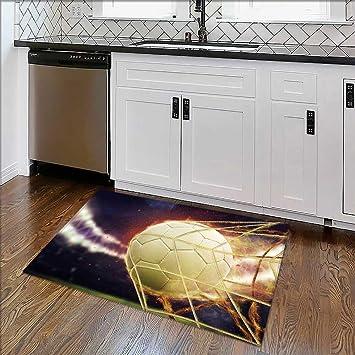 Alfombra Gruesa Antideslizante con Vista al pecera aislada en Color Blanco para Comodidad en casa,