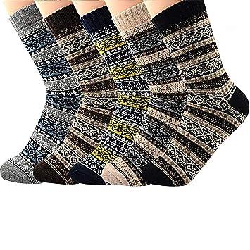 Century Star - Calcetines de Invierno para Mujer, diseño navideño - CUB1S1937S015PSN, Talla única, 5 Pairs Diamond2: Amazon.es: Deportes y aire libre