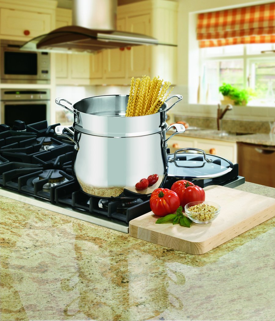 Cuisinart 44-22 Contour Stainless 6-Quart, 3-Piece Pasta Pot with Cover
