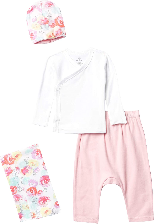 HonestBaby Baby 4-Piece Organic Cotton Take Me Home Gift Set