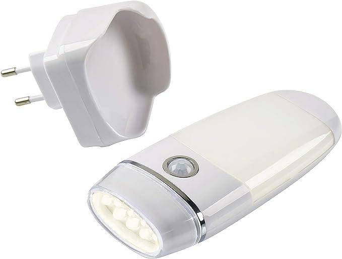 Northpoint LED Steckdosen Nachtlicht Taschenlampe Weiß