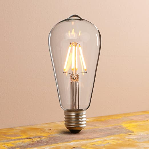 Pathson Vintage Eco Friendly Dimmable LED Filament Light Bulb Edison Bulbs  For Industrial Rustic Pendant
