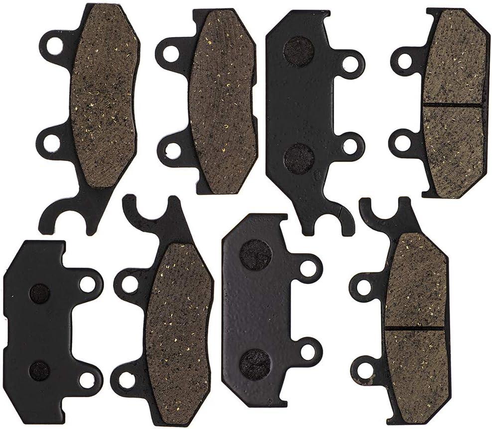 NICHE Brake Pad Kit For Yamaha Viking 700 VI Wolverine X4 1XD-25805-00-00 1XD-25806-00-00 Complete Organic