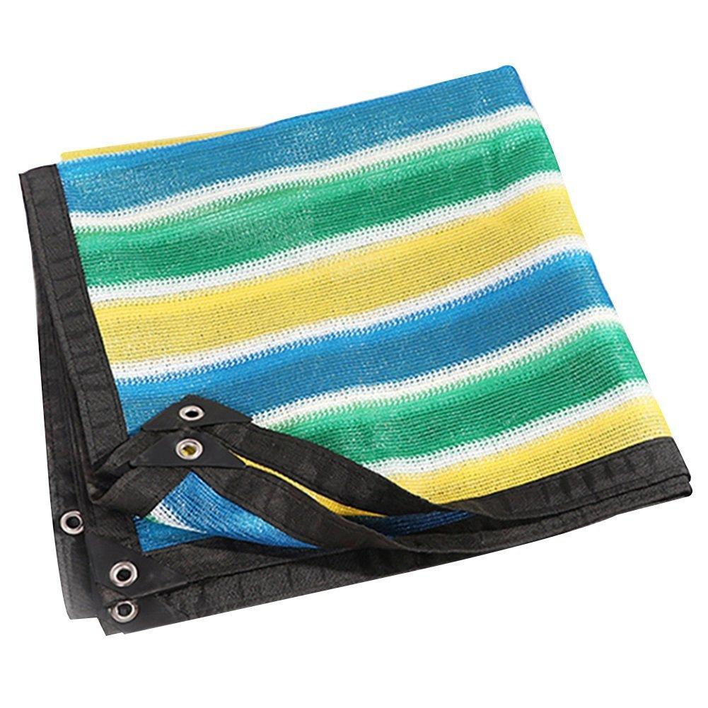 Colore Stripe Tenda Da Sole Telone Codifica A 6 Pin Protezione Solare Netto Rete Tettoia Copertura Tetto Balcone Rete Ombreggiante (colore   4X5M)