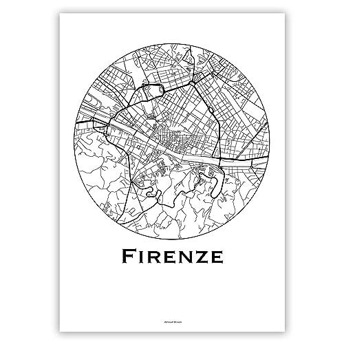 Poster Affiche Quartiers de Paris France City Map Cr/éation originale handmade Plan de ville