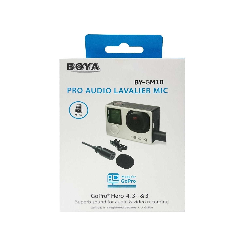 Hero3 Hero3/+ BOYA BY-GM10/Lavalier Audio Pro Mini USB a condensatore per GoPro hero4