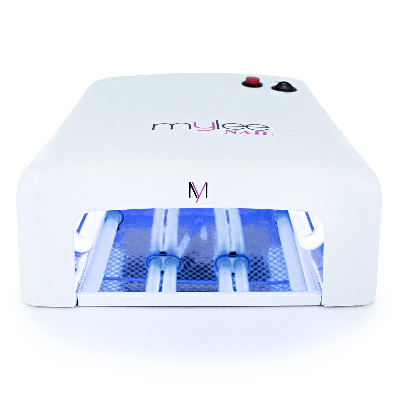 Mylee 36 Watt UV Lichthärtegerät Gel Nagel Lampe, Professionelles Licht zum Trocknen von Gel und Nägeln mit 120 Sekunden Timer + 4 x 9W Glühbirnen mit EU-Stecker und 6 Monate Garantie
