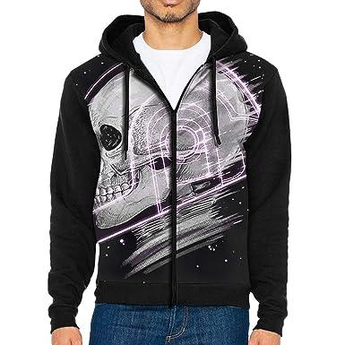 693109e2ed Amazon.com: FaceTi Daft Punk Skull Zip Up Hoodie Lightweight ...