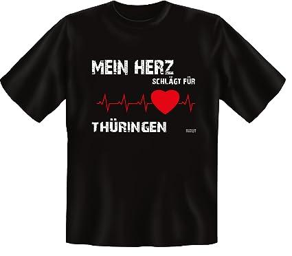 T Shirt Mein Herz Schlagt Fur Thuringen Lustiges Spruche Shirt