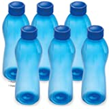 TDS Cello Pet Water Bottle Set, 1 Litre, Set of 6 (Random Colour) (Random Design)
