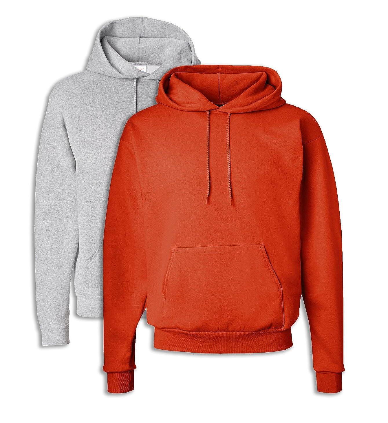 P170 Herren EcoSmart Kapuzen-Sweatshirt XL 1 Light Steel + 1 Orange