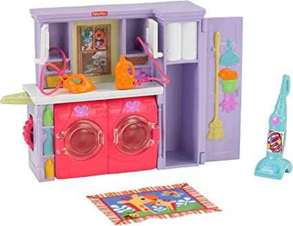 FISHER PRICE Loving Family Dollhouse LAUNDRY ROOM WASHER DRYER DOOR Replacement