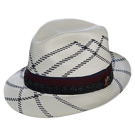 Carlos Santana Headwear Utopia Shantung modello cappello di paglia con pin  taglia XL 18e7592f8d42