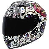 NZI 050264G582 Vital Mexican Skulls - Casco de Moto, Multicolor, Talla 58-59