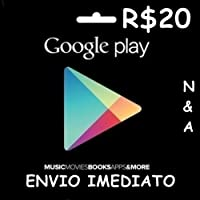 Recarga Google Play R20 Reais, Gift Card