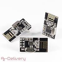 AZDelivery ⭐⭐⭐⭐⭐ 3X NRF24L01 avec 2,4GHz Antenne Module emetteur-recepteur sans Fil WiFi Récepteur RF Récepteur Module pour Arduino 3X NRF24L01 2.4GHz
