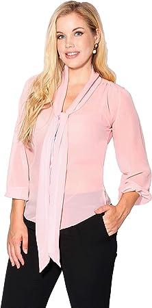 Bonita blusa de gasa transparente con mucha caída,Combínala como quieras con un top corto debajo o c