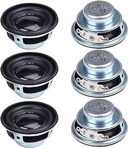 abcGoodefg 6PCS 40mm 4Ohm 3W Full Range Audio Speaker Stereo Woofer Loudspeaker for DIY Desktop Speaker