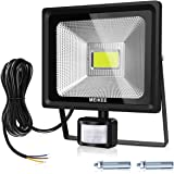 Projecteur LED Détecteur de Mouvement MEIKEE, 50W 5000lumen lampe de Sensibilité 6000K, Etanche IP66, Lumière de Sécurité pour le jardin, la cour, le garage, le terrain de sport et le couloir, etc
