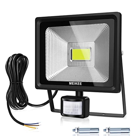 MEIKEE 50W 5000 LM Foco LED con Sensor de Movimiento, Super Brillante 6000K Focos LED