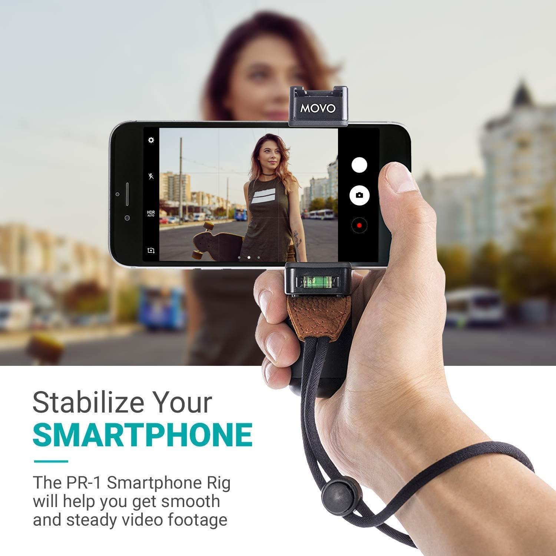 Plataforma de Soporte para Grabar Vídeo con Smartphones de Movo con Micrófono de Cañón, Empuñadura y: Amazon.es: Electrónica