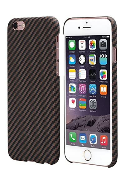 newest 5b73d a0250 iPhone 6s Case / 6 Case with Screen Protector 4.7 Inch Ultra Slim 0.65mm  Black/Gold Cover - PITAKA Aramid