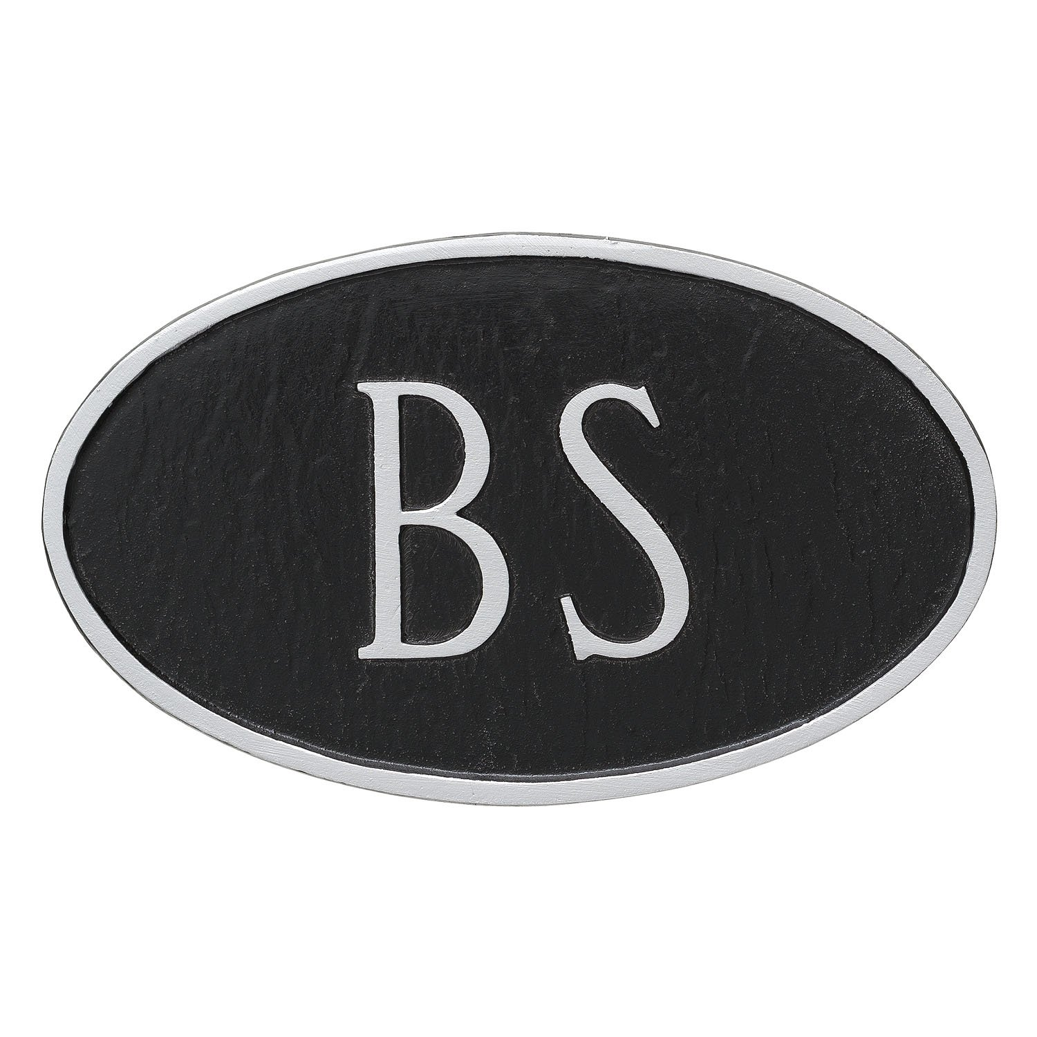Black//Gold Montague Metal TSH-0005S2-H-BG Double Sided Hanging Princeton Two Line Address Sign Plaque 7.25 x 15.75