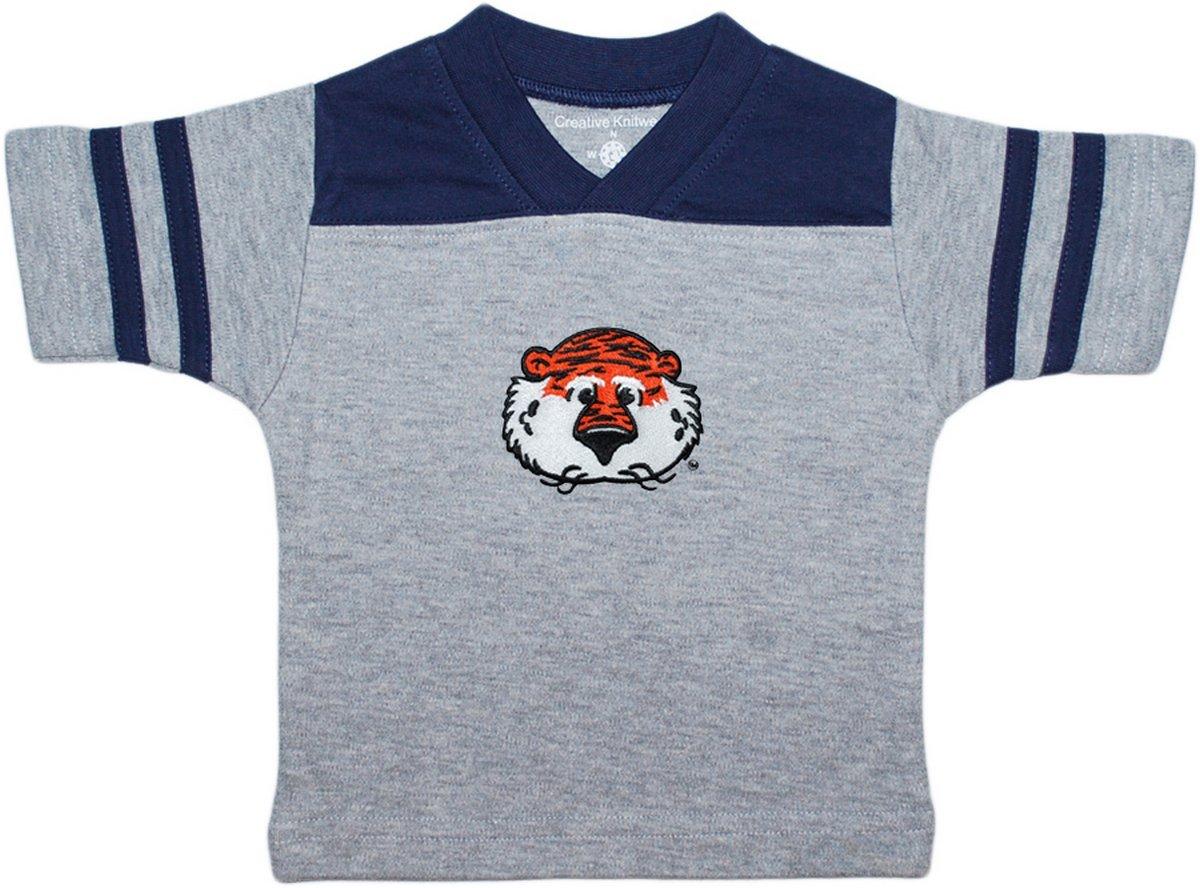 Creative Knitwear Auburn University Aubie The Tiger Newborn Baby Toddler Sport Shirt,Navy,6-9 Months by Creative Knitwear