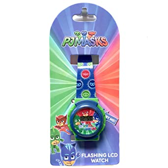 PJ Masks Flashing Lights Kids LCD Watch