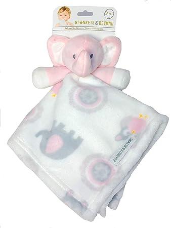 Amazon.com: Mantas y más allá de bebé felpa elefante manta ...