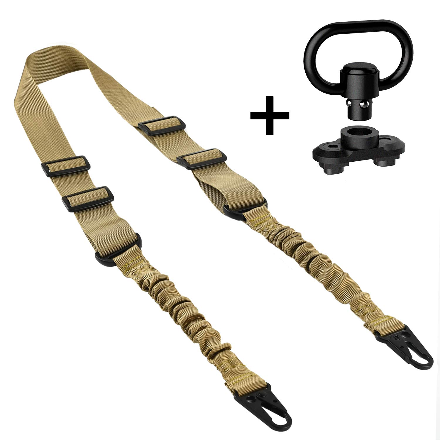 EZshoot 2 Point Sling and Qucik Release Sling Mount Sling Swivel Sand by EZshoot