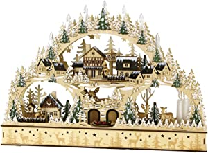 SPICE OF LIFE ERZ LED Music Box - Battery-Operated Christmas Holiday Decor - Large Forest Town