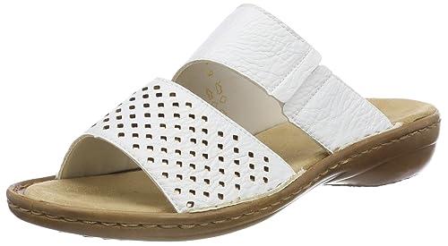 Rieker Damen Pantolette weiss (Weiß) 60885 80