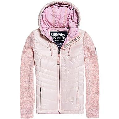 9929de3dc2a6ed Superdry Damen Jacke SD Storm Shine Ziphood, Größe:S, Farben:Mineral pink
