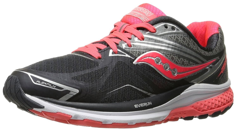 Saucony Women's Ride 9 Running Shoe B018EZRIJ8 9.5 B(M) US|Grey/Charcoal/Combo