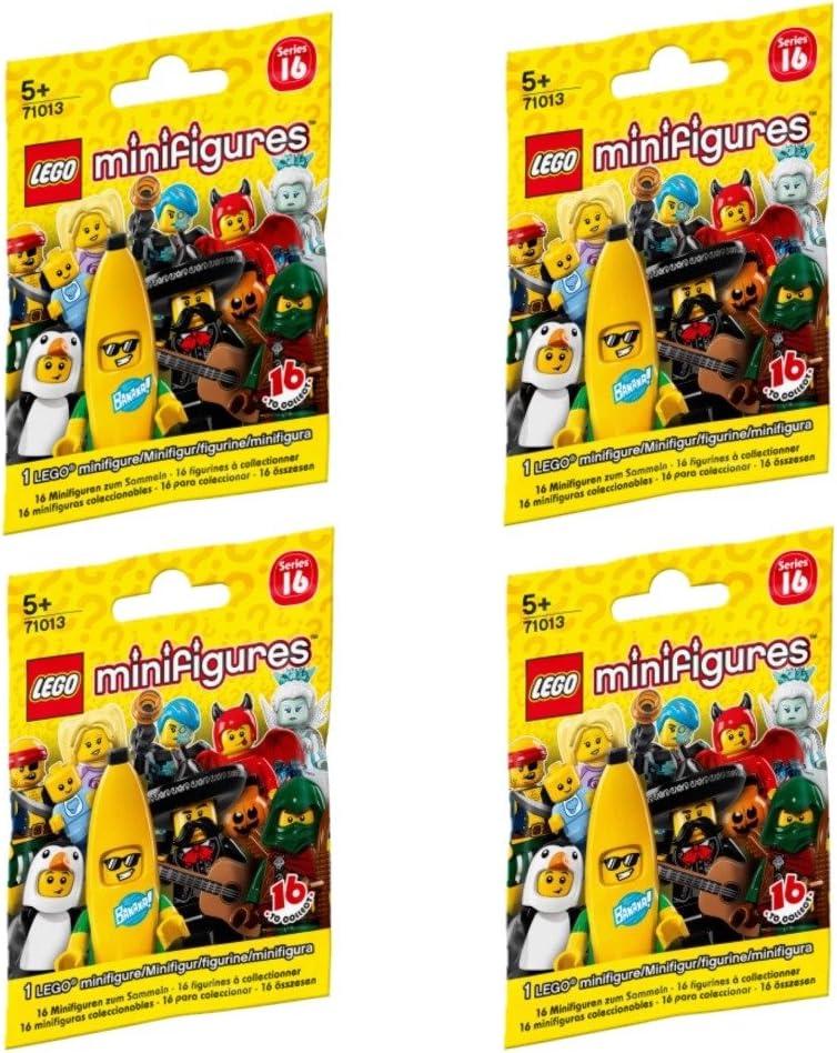 LEGO Minifigures 71013 Series 16 (FOUR random packs)