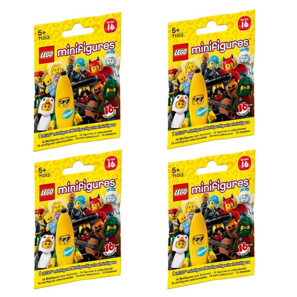 LEGO Minifigures 71013 Series 16 FOUR random packs