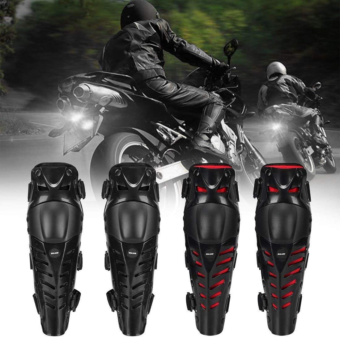 Protezione per Lo Sport allAria Aperta Colore: Nero e Rosso Attrezzatura di Protezione 1 Paio di Proteggi-Ginocchia per Moto Motocross Equitazione Racing Formulauff