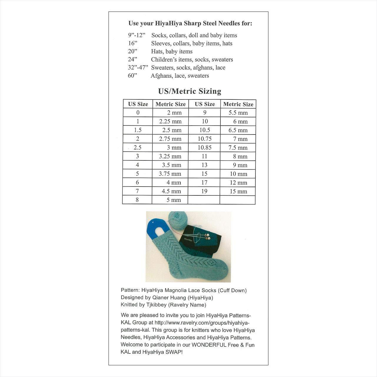 2.75mm HISTCIR9-2 23cm HiyaHiya Circular 9-inch Steel Knitting Needle; Size US 2