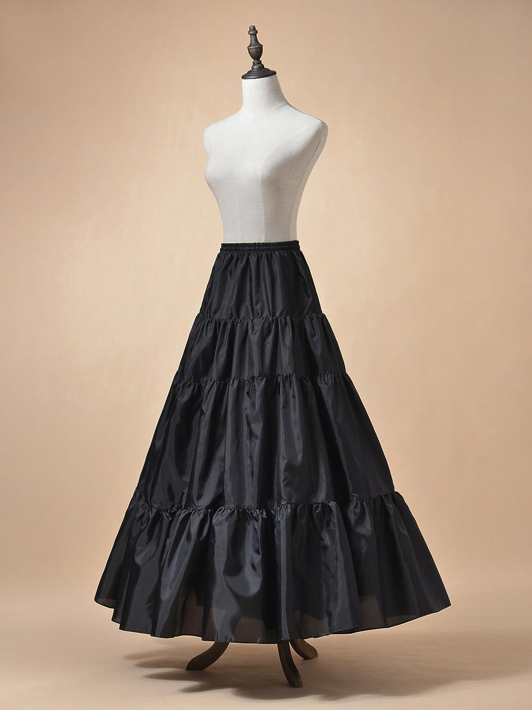1950s Petticoat History Remedios Floor Length A Line Bridal Petticoat Underskirt Crinoline Half Slip $18.99 AT vintagedancer.com