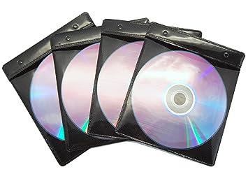 Energmix - Fundas para CD y DVD (100 unidades, capacidad para 200 CD), color negro