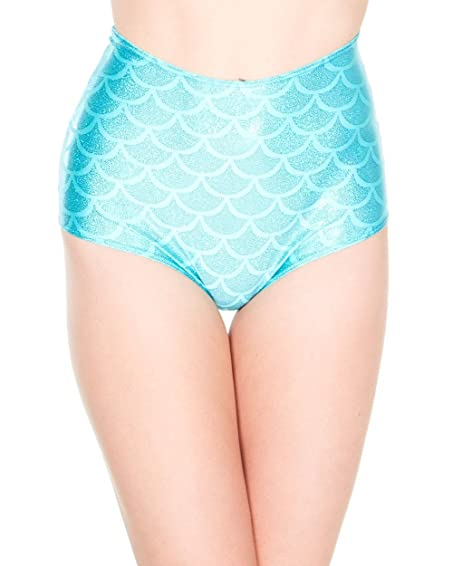high waisted mermaid shorts