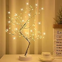 Arbol LED Decorativo, Lámpara de Mesita de Decoración con 108 Luces, Alambre de Cobre Ajustable, Decoración del Hogar…