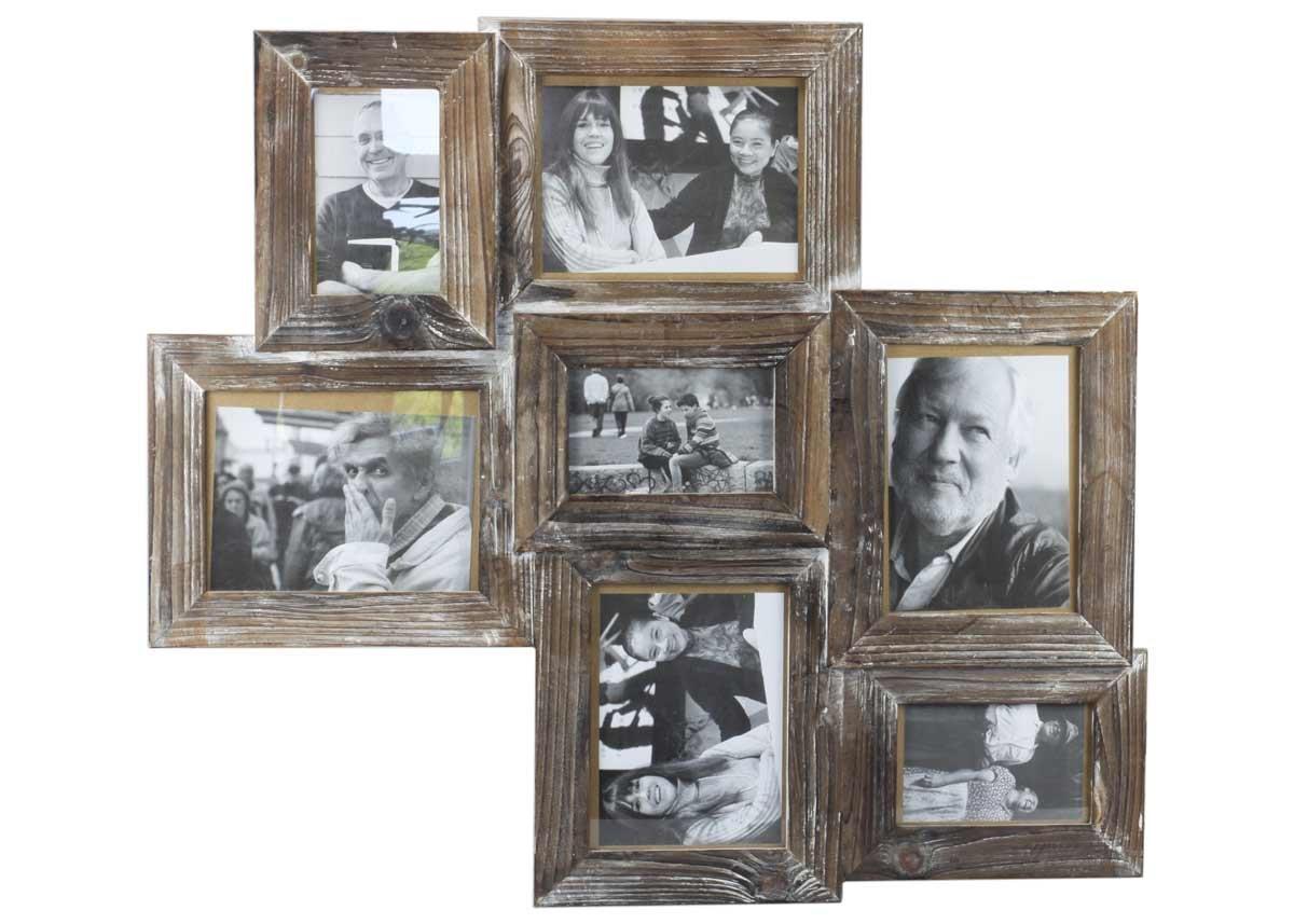 Amazon.de: condecoro Bilderrahmen Collage Altholz Antik mit 7 ...
