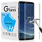 Galaxy S8 Plus Screen Protector,Yica 3D-Curved Tempered Glass Screen Protector for Samsung Galaxy S8 Plus, 9H Hardness, Bubble Free, Anti-Fingerprint HD Screen Protector Film