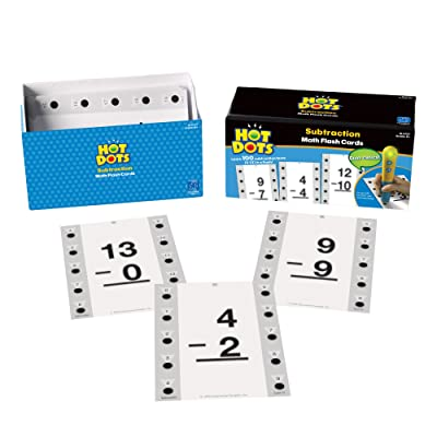 Educational Insights Hot Dots Math Flash Cards- Subtraction: Toys & Games