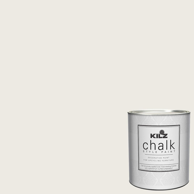 KILZ L540104 Decorative Paint for Furniture, 1 Quart, White