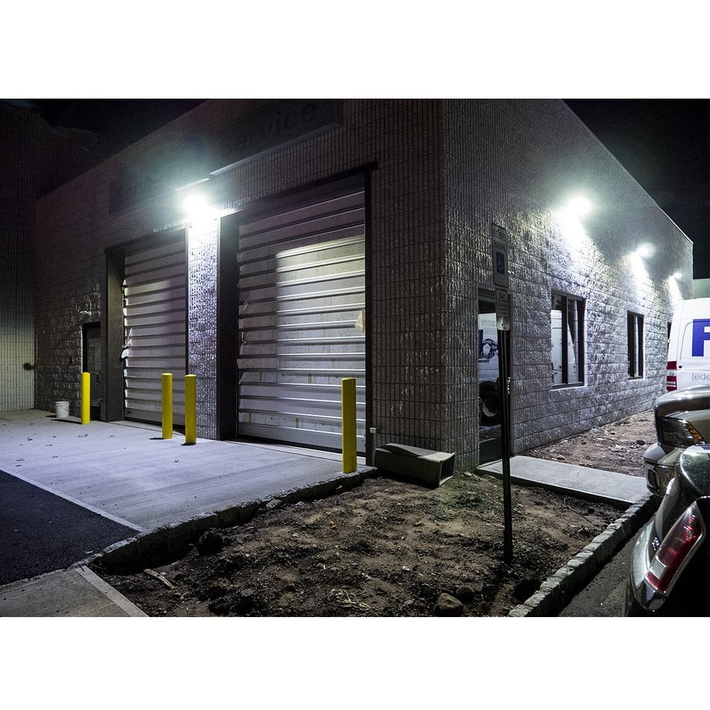 Dephen 55W Led Wall Pack Light, Photocell Dusk to Dawn, 7150Lumens(200W Metal Halide/HPS Replacement), 5000K LED Security Lights, Adjustable Head, LED Flood Outdoor Lighting, IP65(UL-Listed)