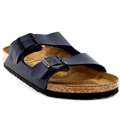 e97bef222c329 Birkenstock Mens Arizona Leather Buckle Summer Holiday Beach Sandals UK 6-13
