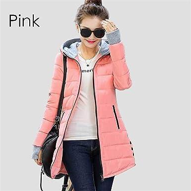 18ff63782f Dapengzhu Warm Winter Jackets Women Fashion Down Cotton Parkas Casual  Hooded Long Coat Thickening Zipper Slim